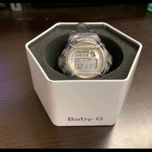 Baby G Grey Jelly Resin Digital World Time Watch